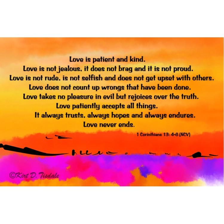 Love Is Patient: Ocean Palm Trees