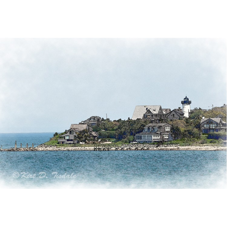 Lighthouse Point in Watercolor
