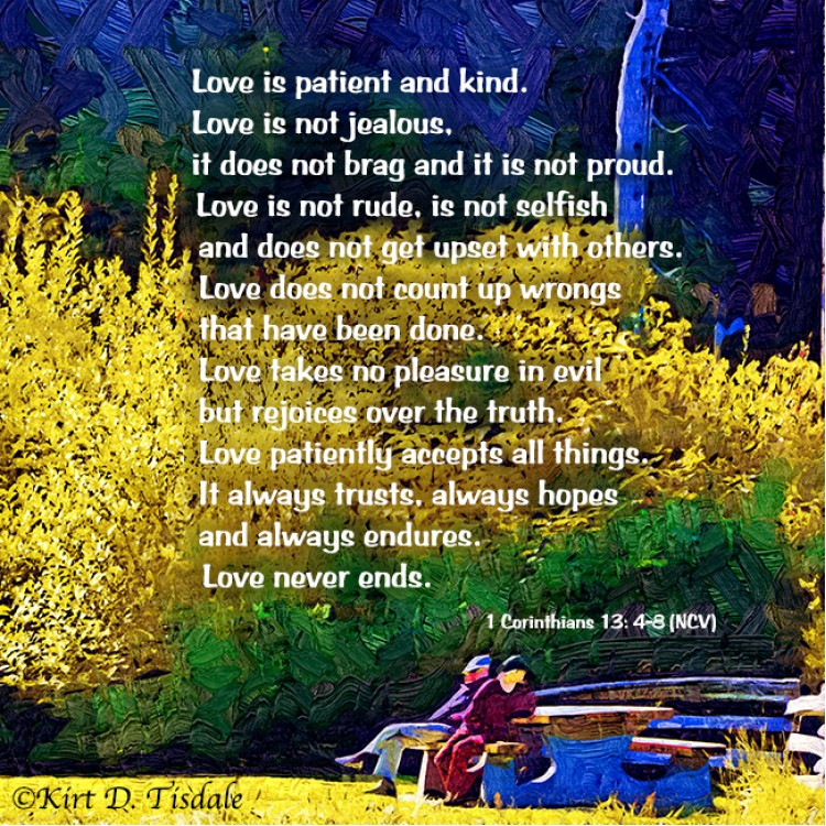 Love Is Patient: Mountain Lake In Watercolor
