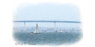 Sailing by the Coronado Bridge
