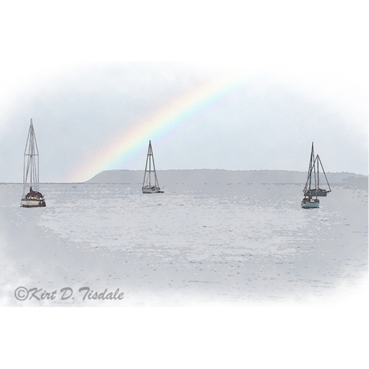Four Sailboats On Bellingham Bay