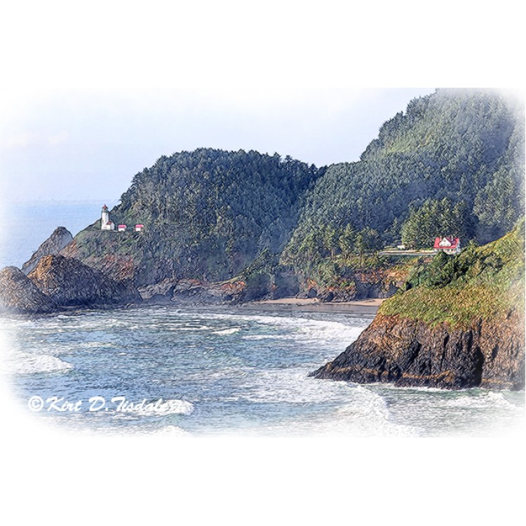 Heceda Head Lighthouse Sketched