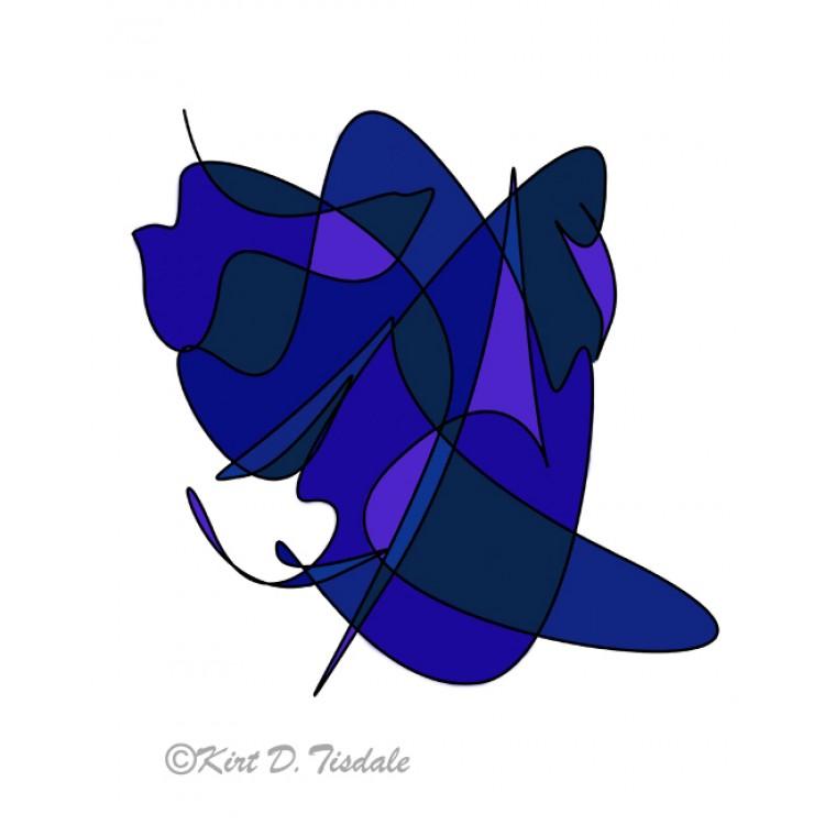 Abstract Coastal Sunset