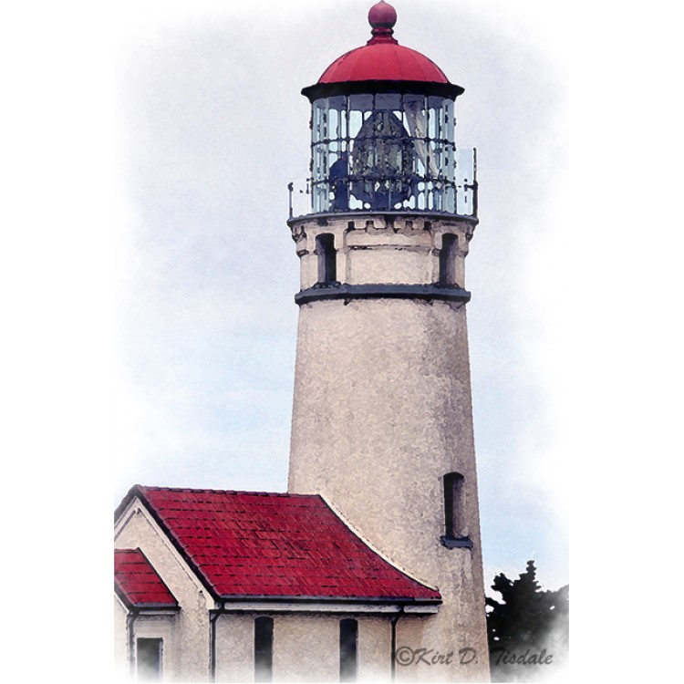 Cape Blanco Lighthouse Watercolor