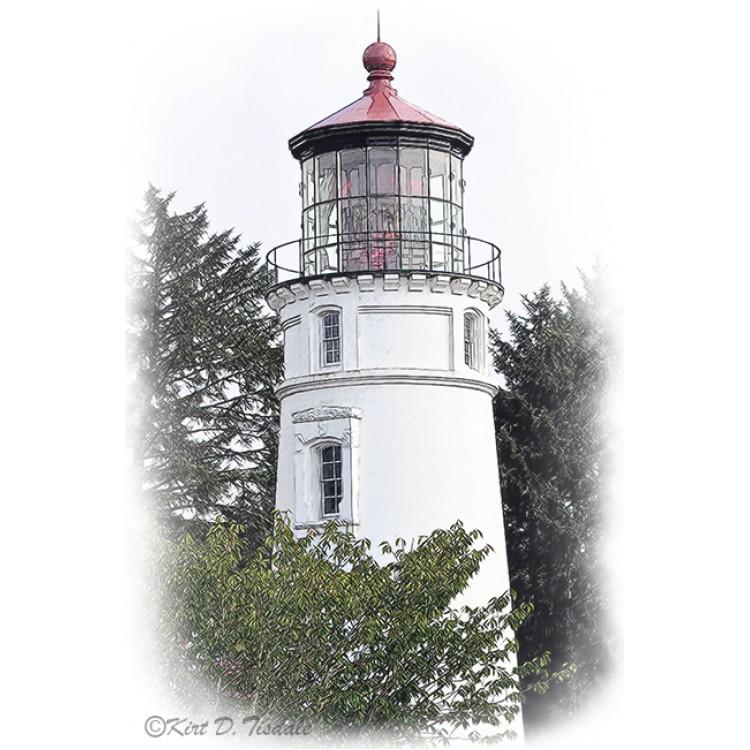 Umpqua River Lighthouse Sketched