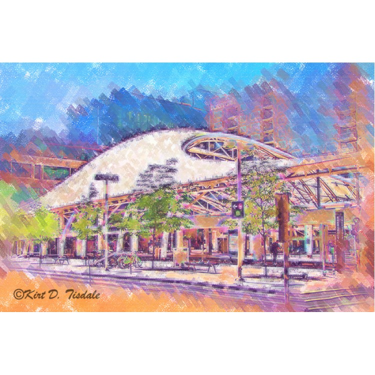 Denver Transit Center In Pastel