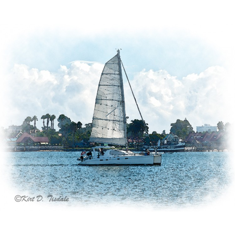 The Sailboat On San Diego Bay