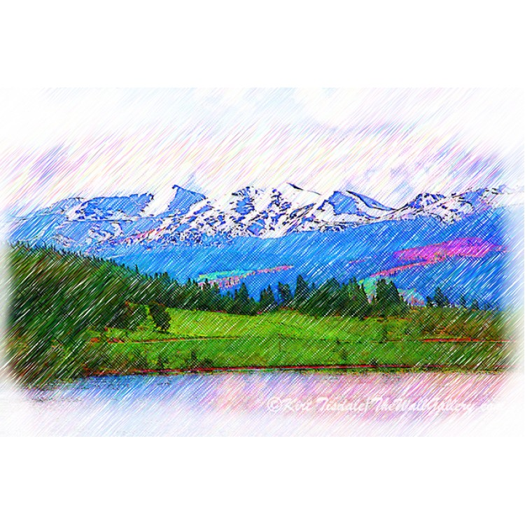 The Mountain Range Behind Lake Dillon Sketched