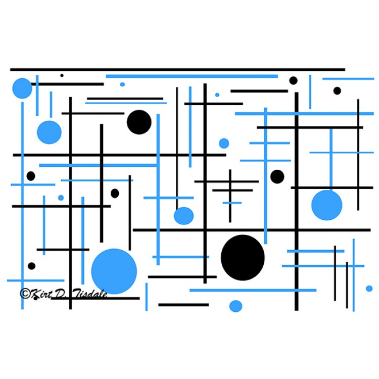 Blue And Black Geometric Shapes