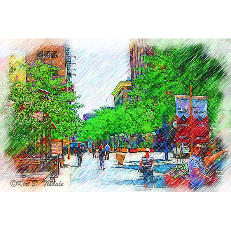 Denver 16th Street Mall Sketched