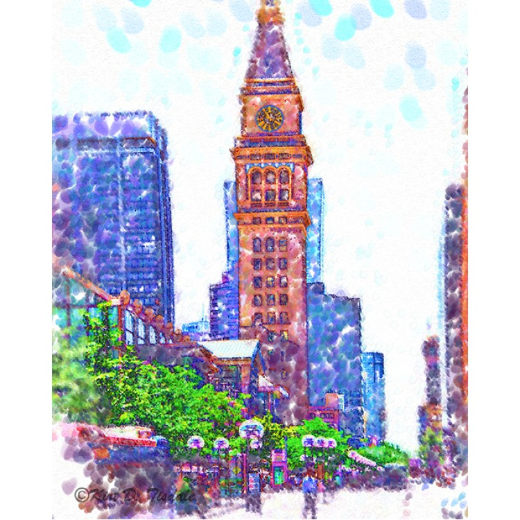 D&F Tower In Pointillism On The Mall