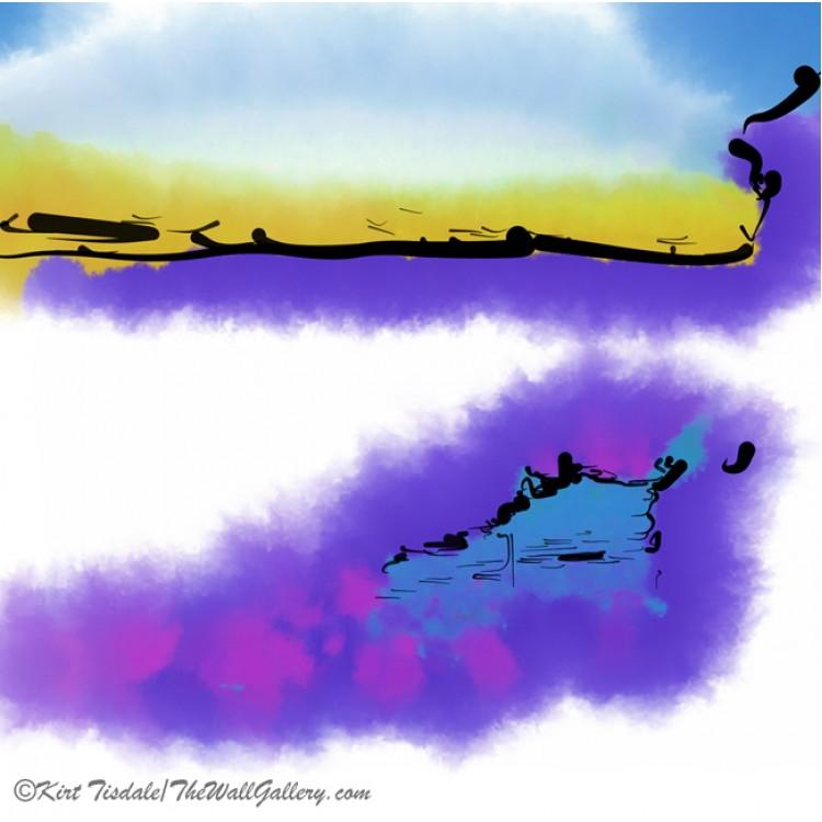 Purple Abstract Beach