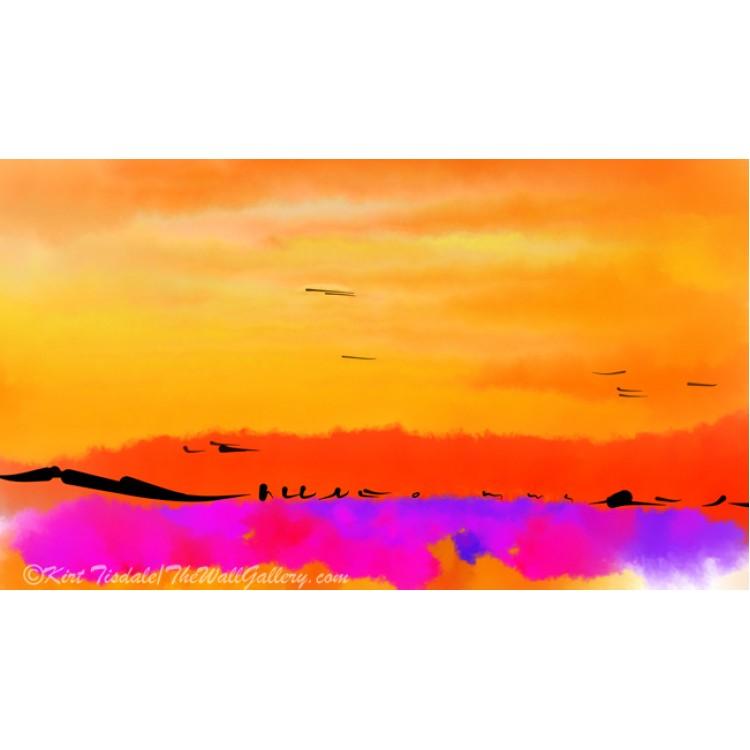 Orange Abstract Sunset