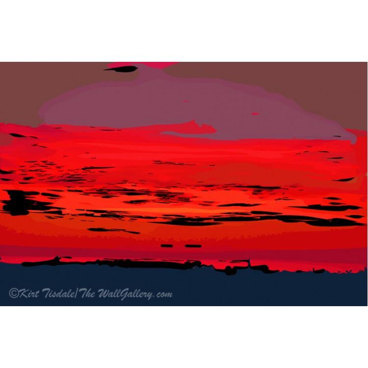 Red Ocean Sunset