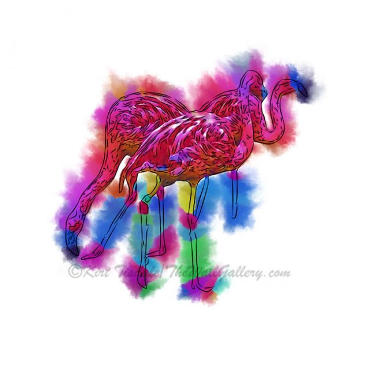 Abstract Flamingo Step