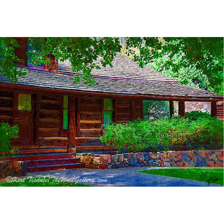 Log Cabin Front Porch