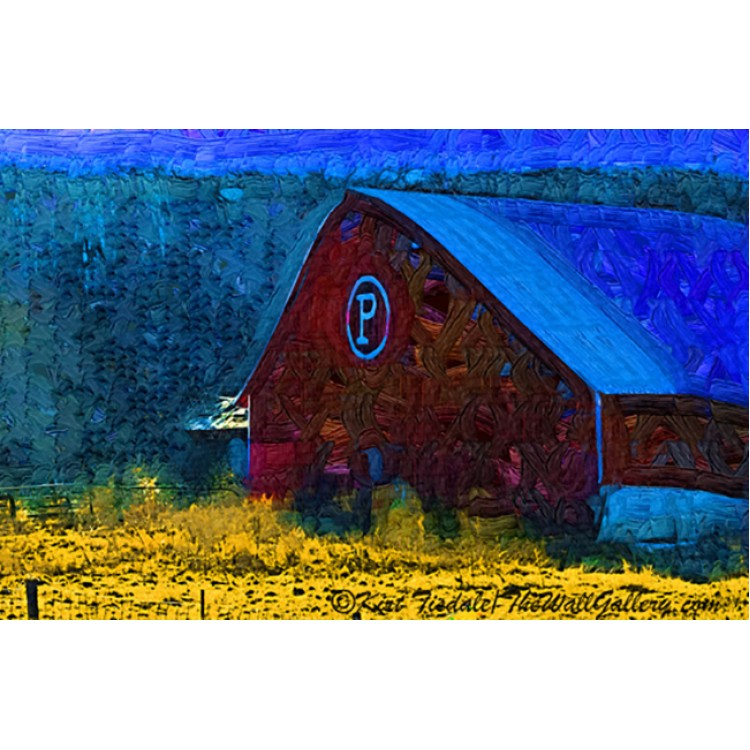 Abstract Red Barn