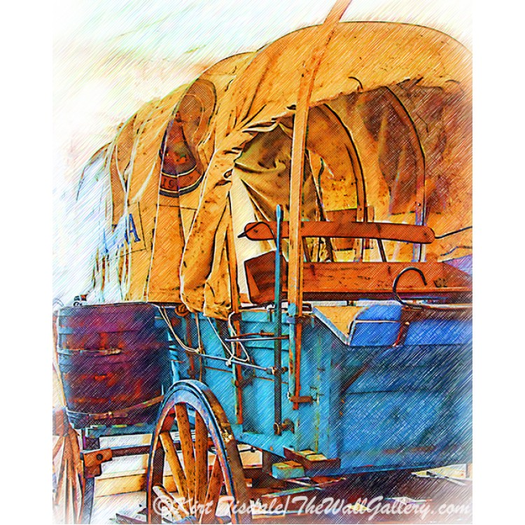 Covered Wagon Sketched