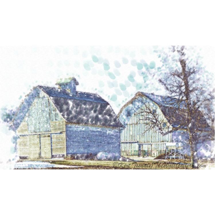 Twin Iowa Barns