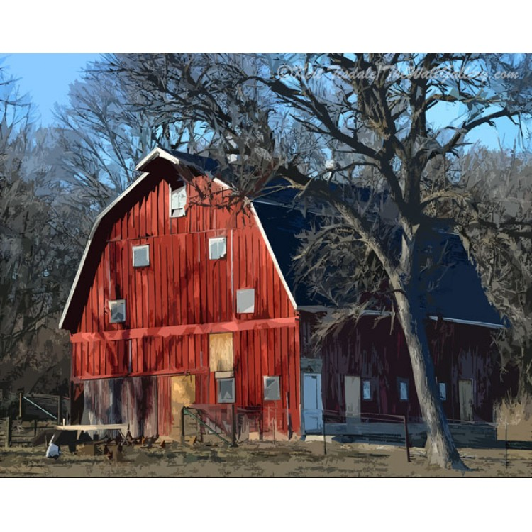 The Bright Red Barn