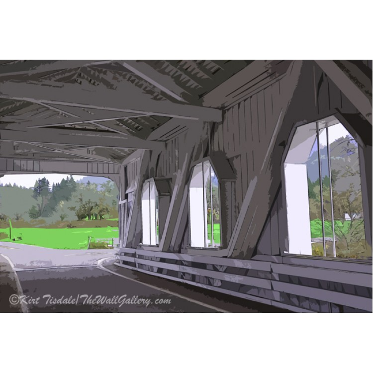 Inside A Covered Bridge