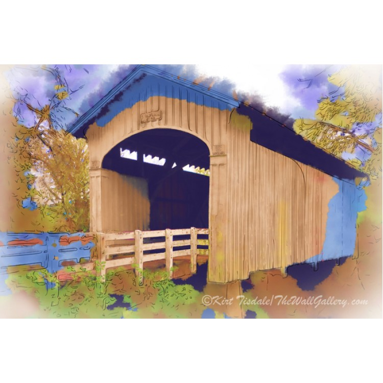 Stewart Bridge In Watercolor