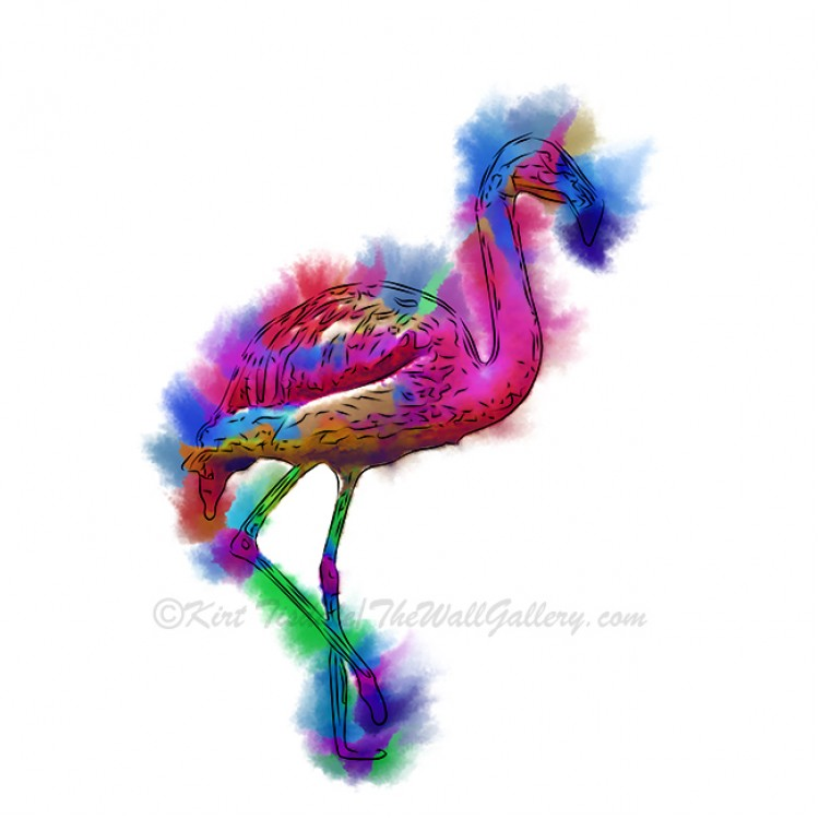Prancing Flamingo Abstract