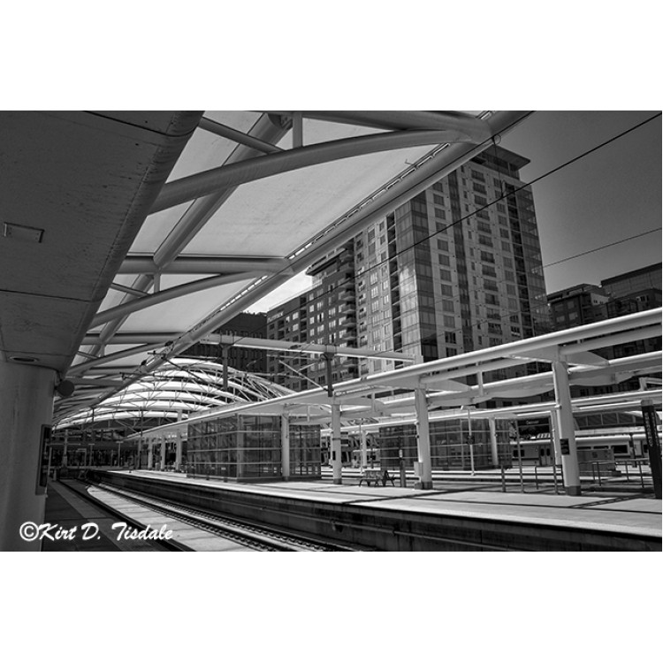 Denver Light Rail Platform At Union Station