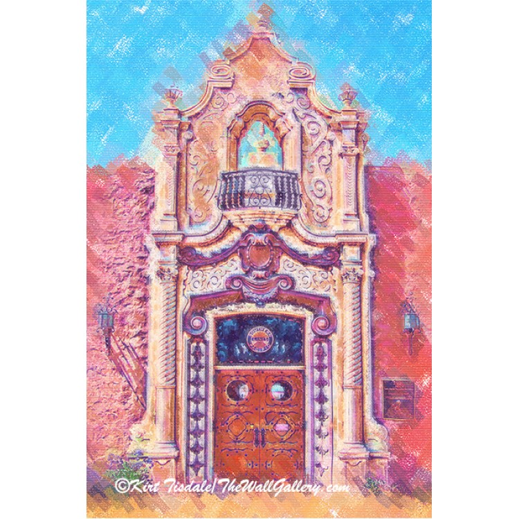 Pastel Train Station Door