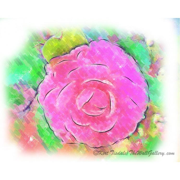 Camellia Pastel Pink Bloom
