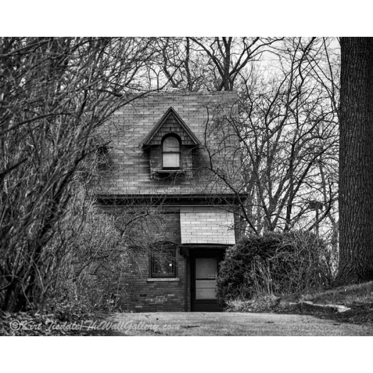 The Carriage House in Black And White