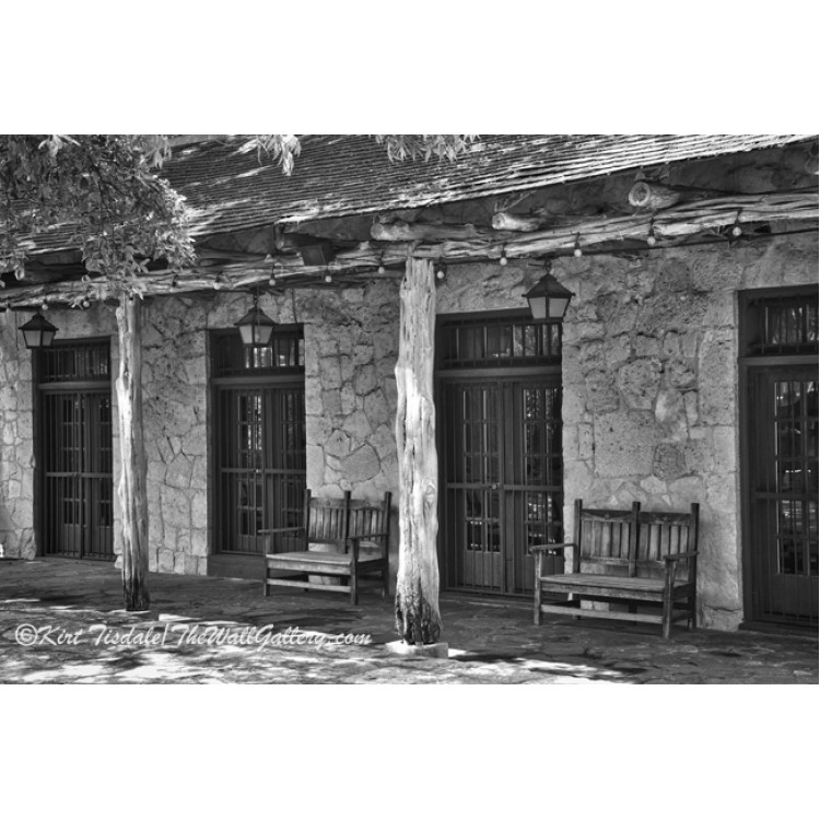 Black And White Alamo Adobe