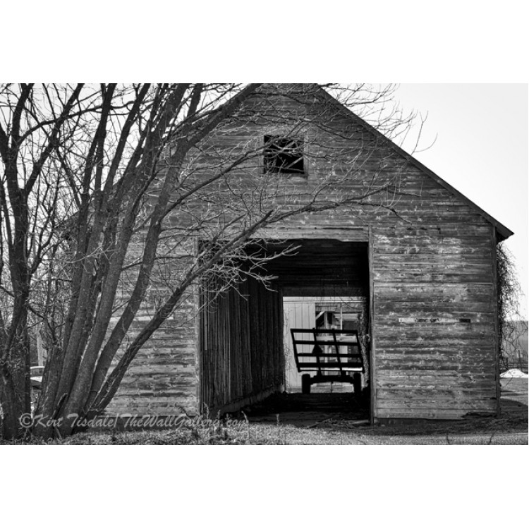 Hay Wagon In Barn