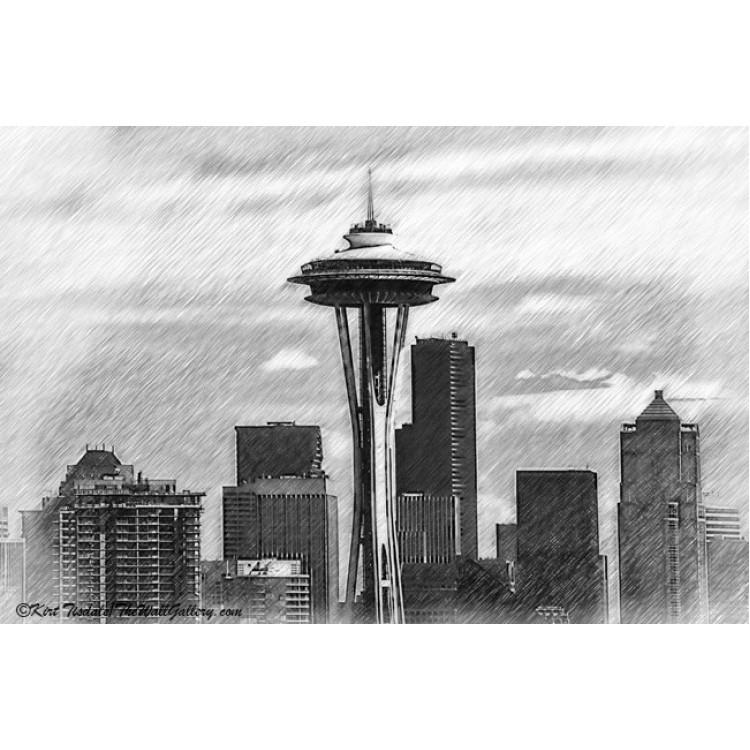 Seattle Skyline Sketched