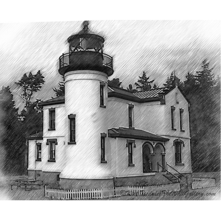 Admiralty Head Lighthouse Sketched