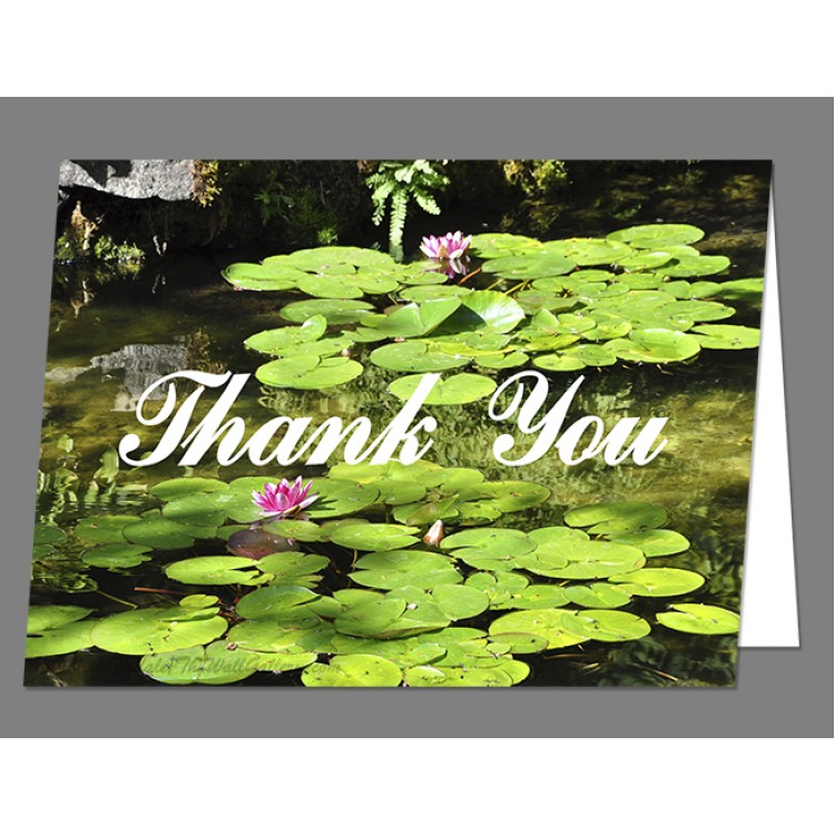 Lily Pads Thank You Card