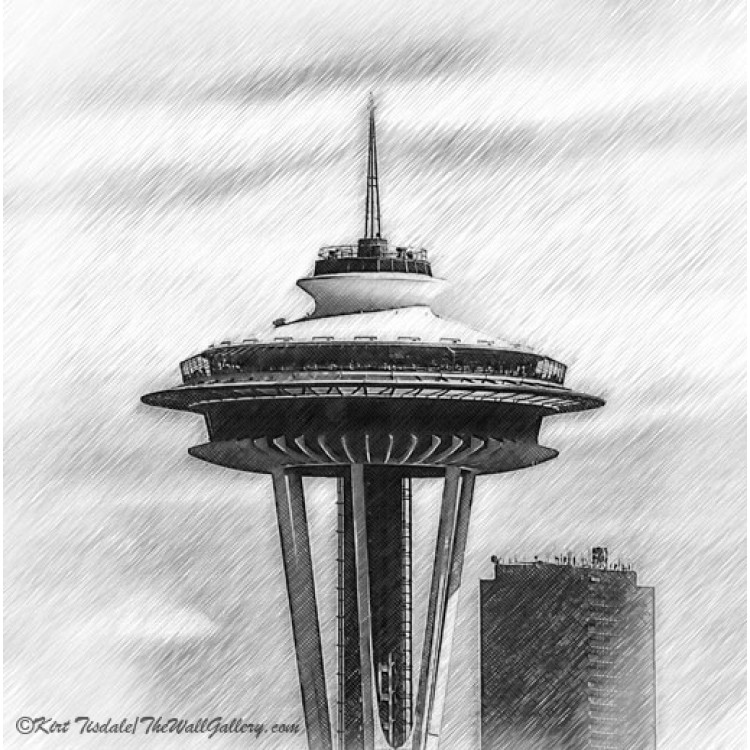 The Space Needle Sketched