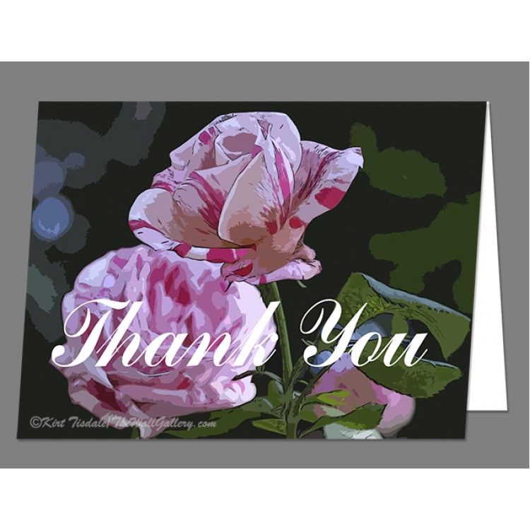 Two Candy Canes Thank You Card