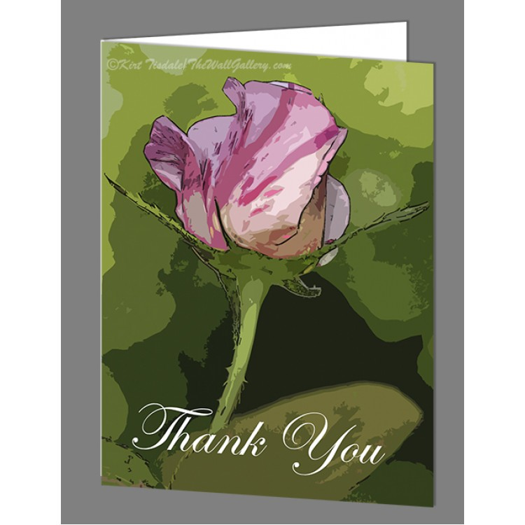 One Candy Cane Thank You Card