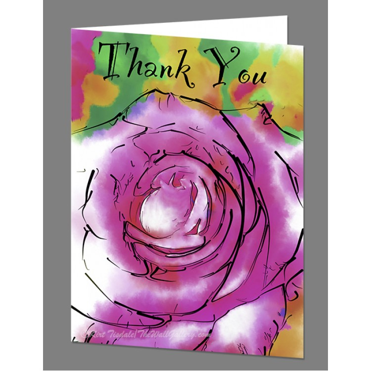 Subtle Purple Rose Thank You Card