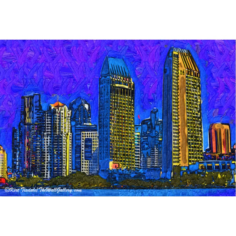 San Diego In Abstract