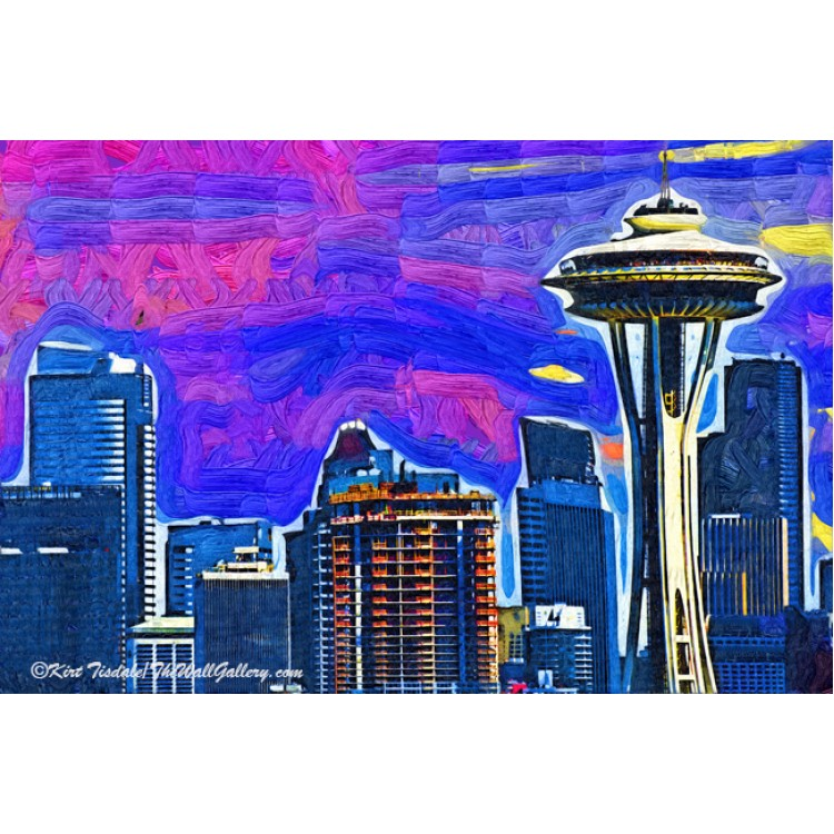 Space Needle Fauvism Style