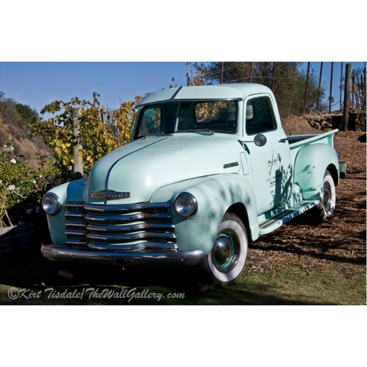 Pale Green Classic Chevy Truck