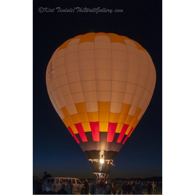 Peach Hot Air Balloon Night Glow