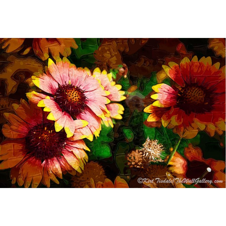 Fall Flowers In Impasto