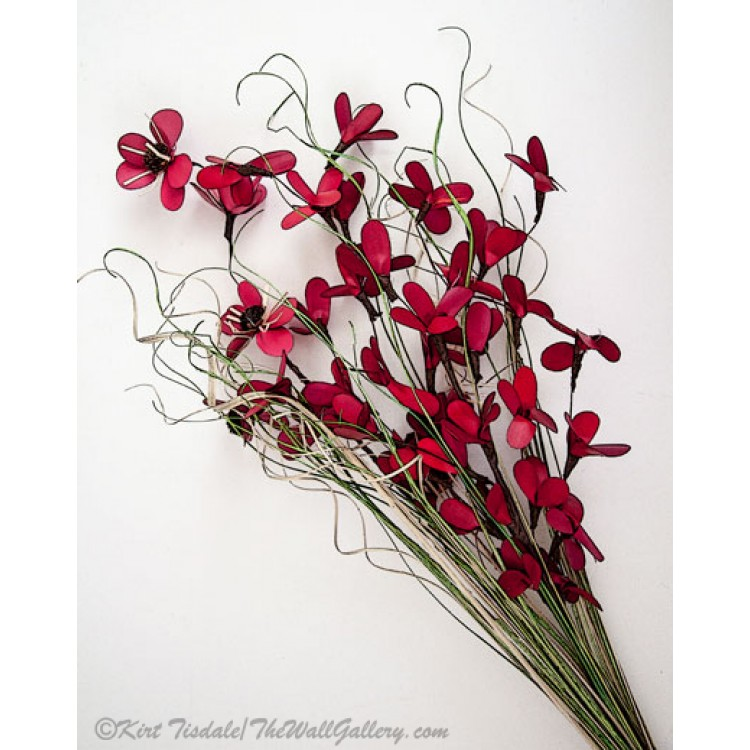 Dainty Red Left Slanted Bouquet
