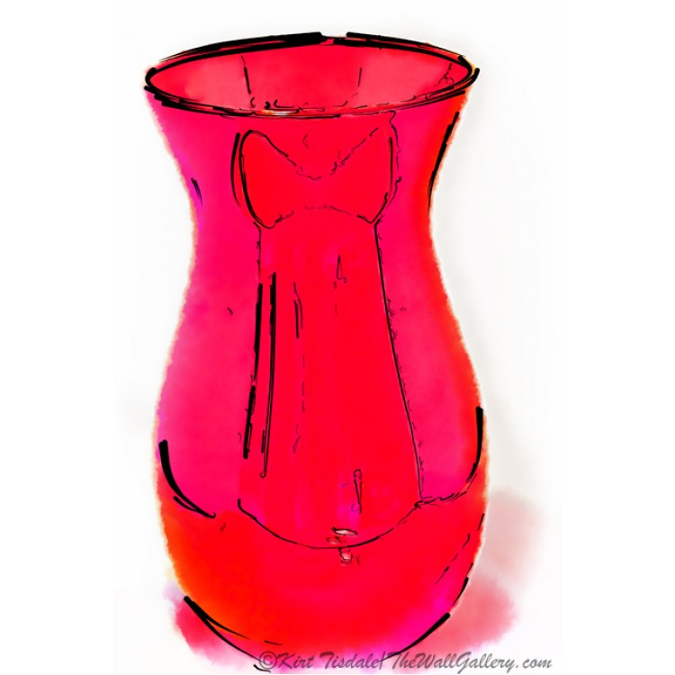 Red Vase Watercolor