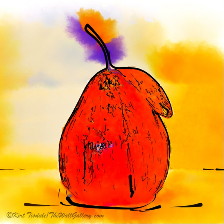 Orange Pear Watercolor