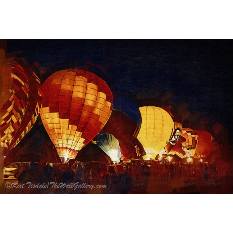 Night Hot Air Balloon Festival In Gothic