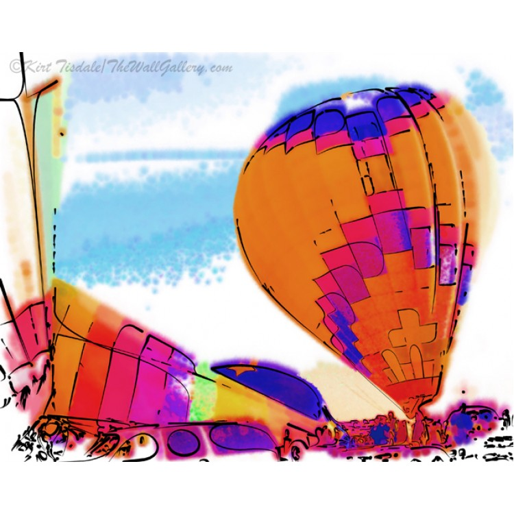 The Orange And Purple Hot Air Balloon